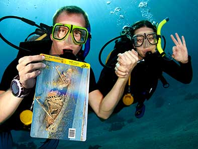Waterproof guides for divers